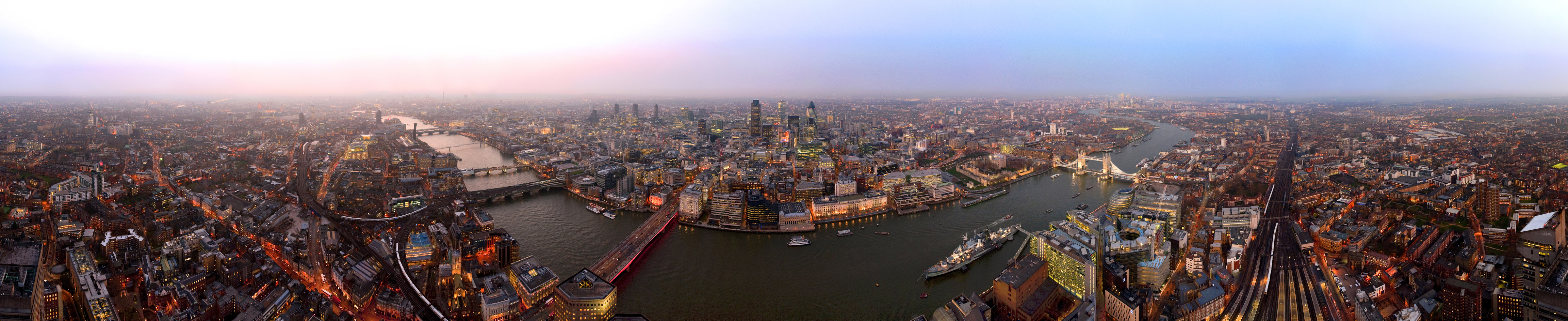 Panorama from the Shard