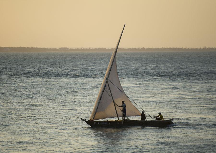 Swahili boat at Bagamoyo