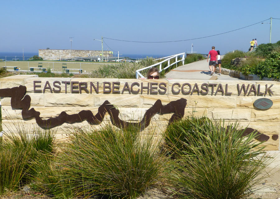 Eastern Beaches Coastal Walk sign