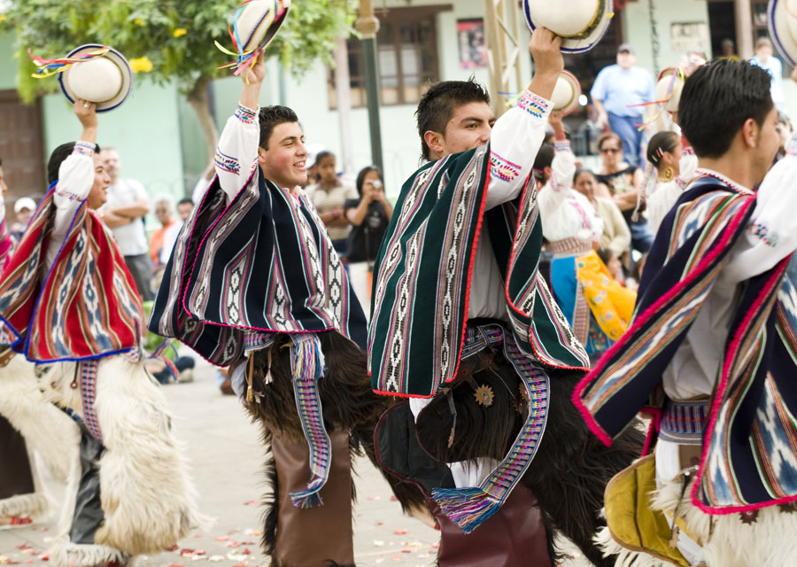 Men dancing in traditional Ecuadorian dress & Sartorial delights in Ecuador: Panama hats and colours to dye for ...
