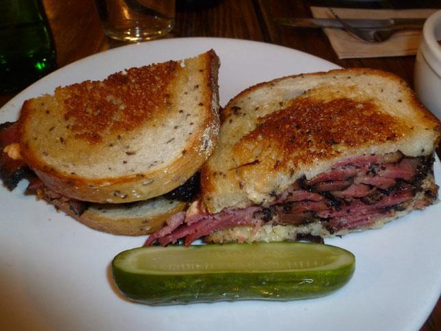 Reuben sandwich in Chelsea Market