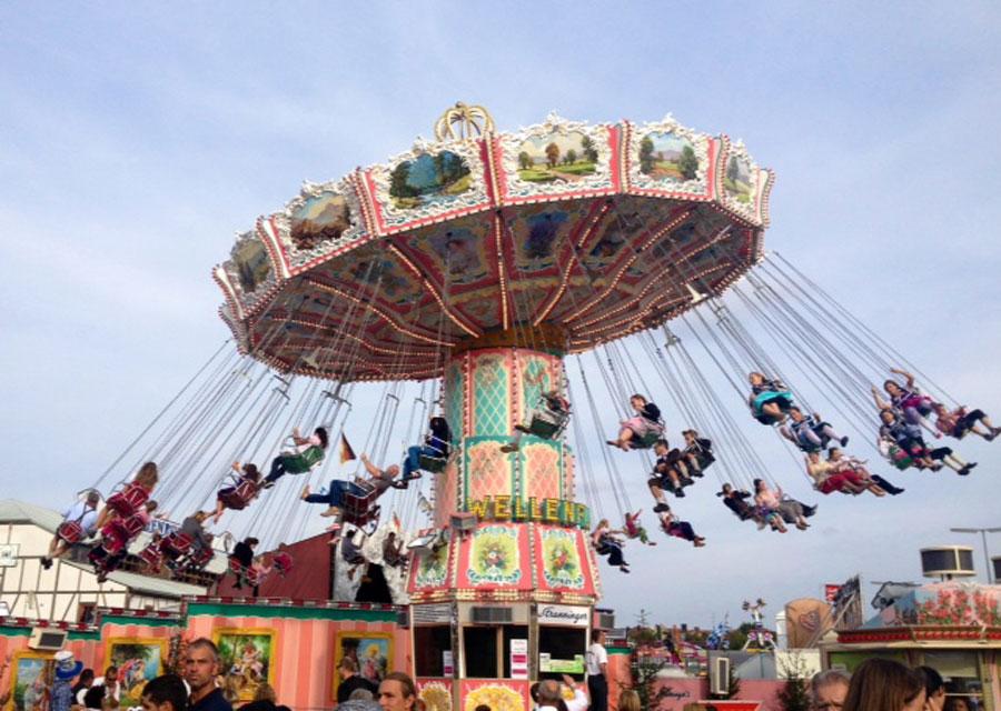 Fairground ride at Oktoberfest