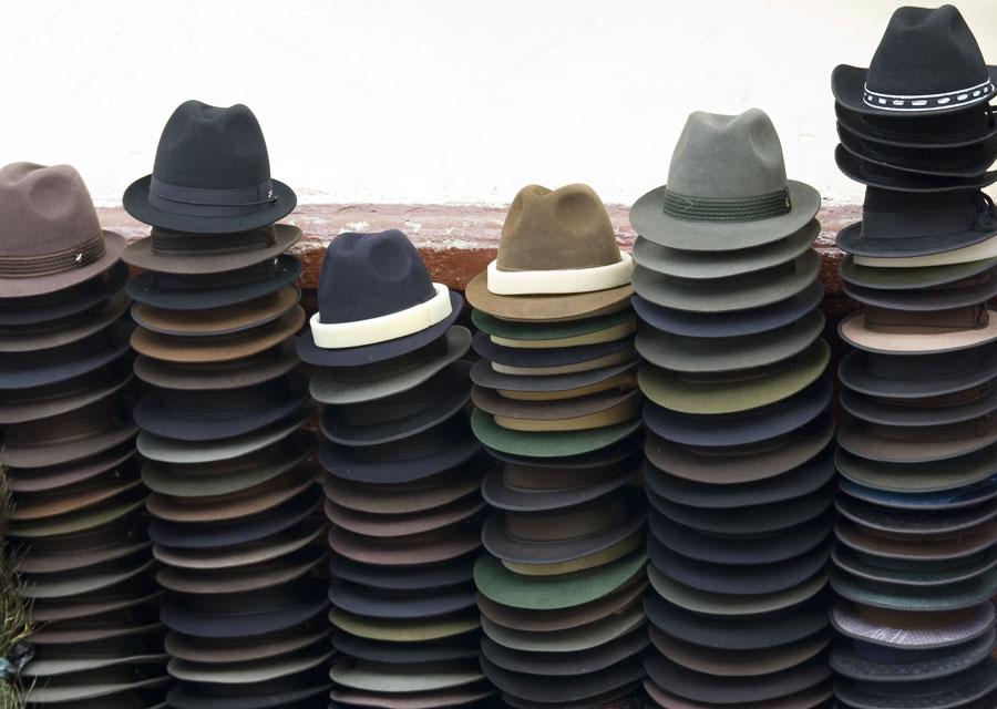 Panama hats on sale in Ecuador