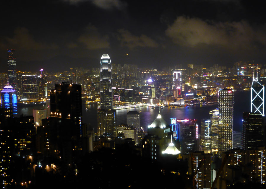 Peak view by night