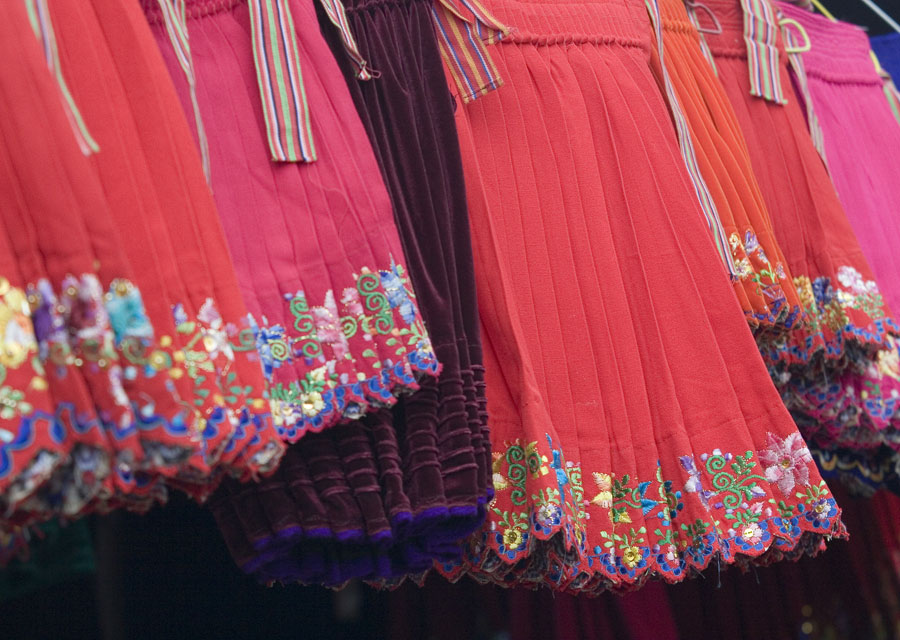 Skirts on sale in Ecuador