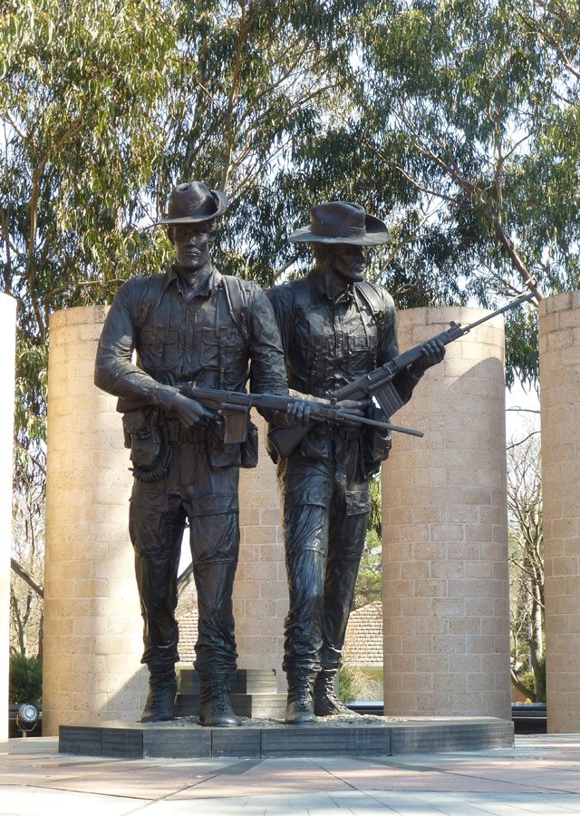 Statue on Anzac Parade