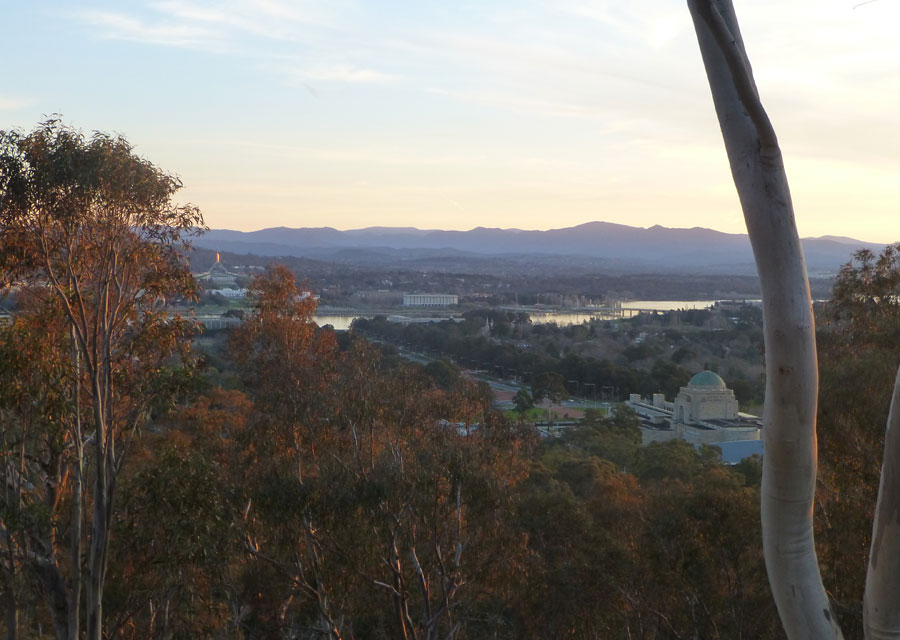 View over Canberra by day