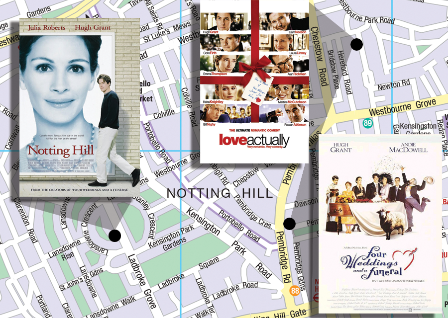 Richard Curtis' London film locations