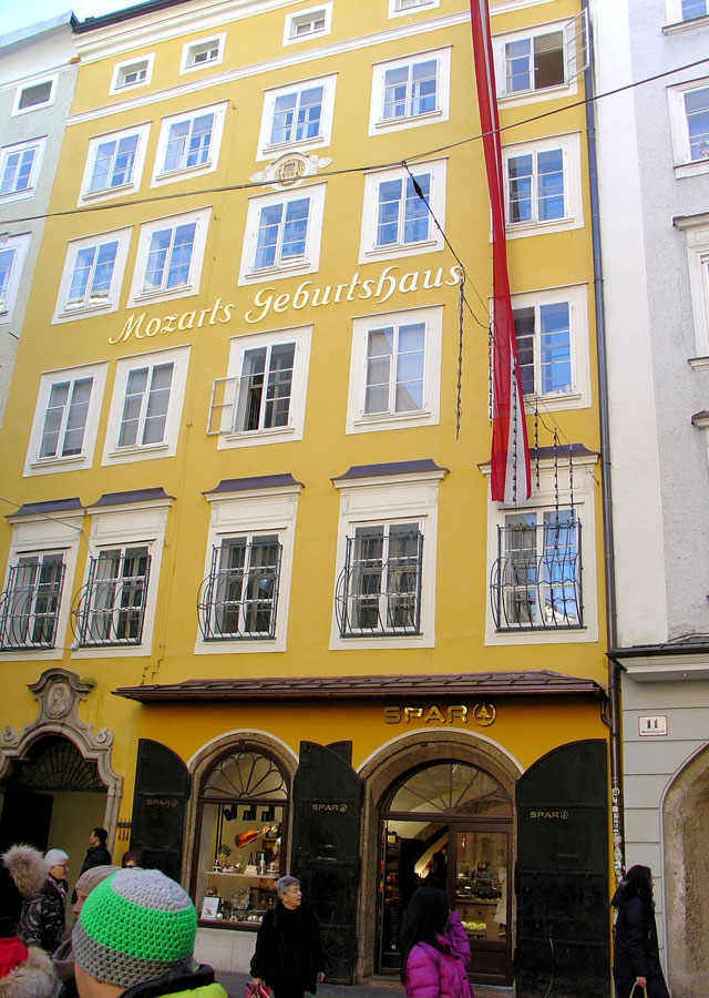 Mozart's birthplace is known for great shopping.
