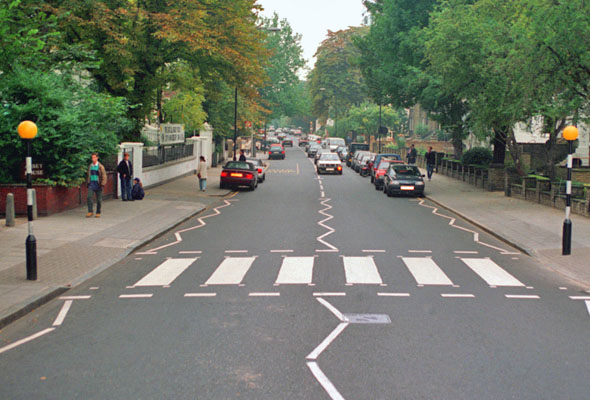 Abbey Road Crossing, London.
