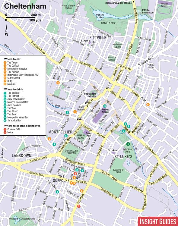 Cheltenham map