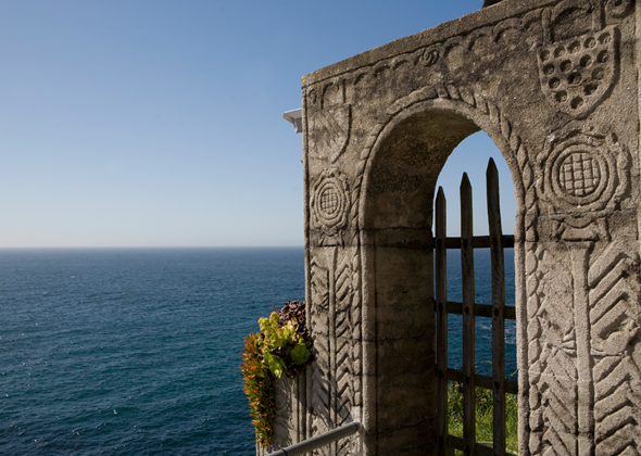 Sea view from Minack theatre.