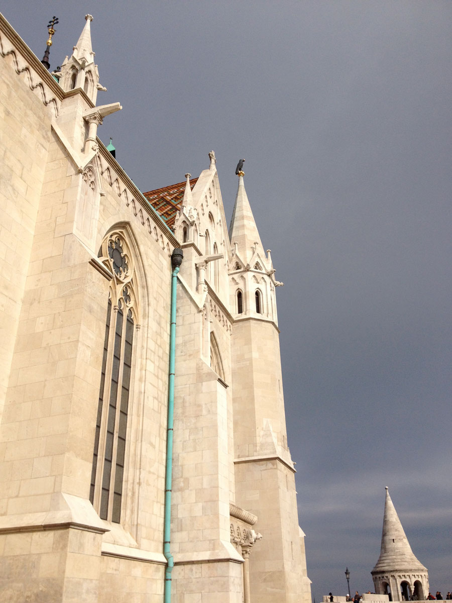 Matthias Church with crow
