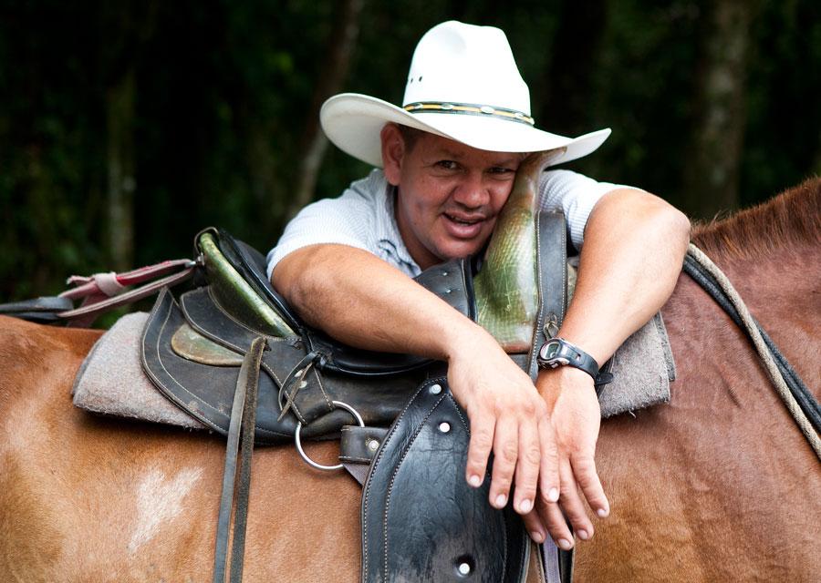 Horseback rider in the northeast.
