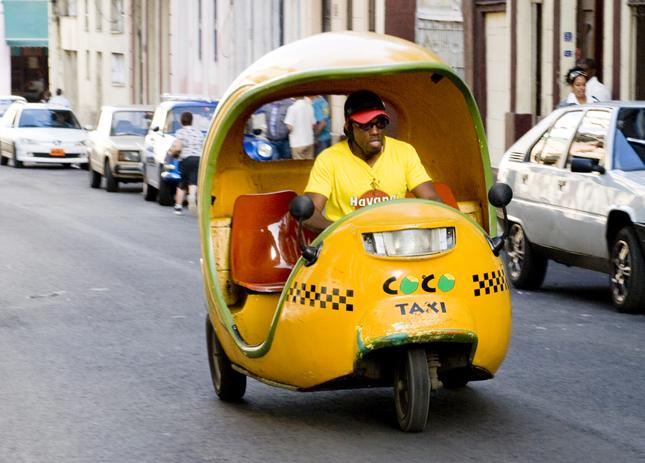 Havana coco taxi, Cuba.