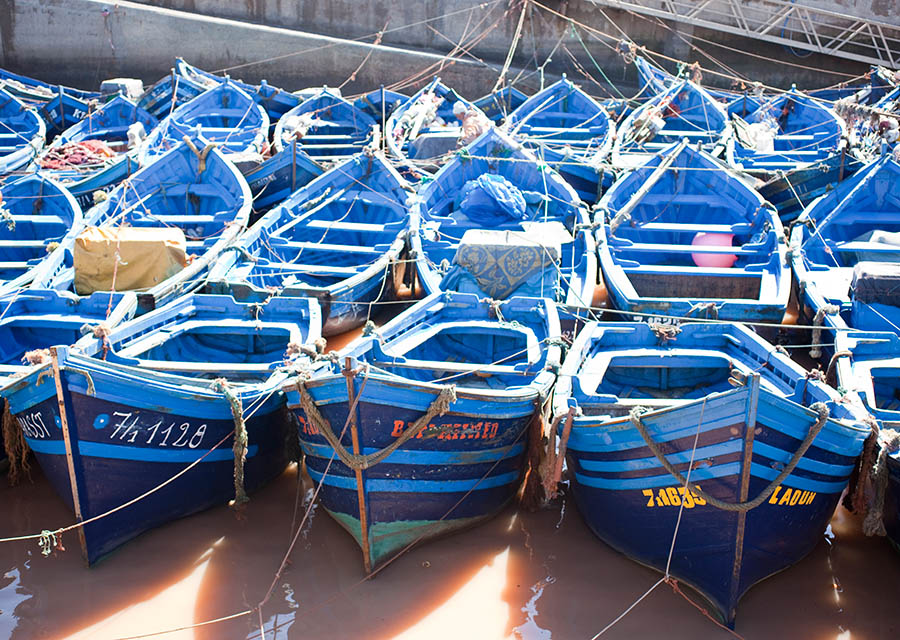 Essaouira fishing boats; Morocco; Southwest Coast