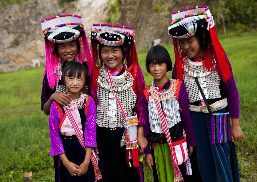 Visiting hill tribes in northern Thailand
