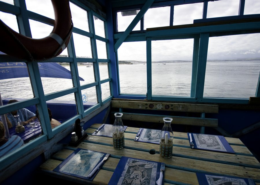 view from a mossel bay restaurant garden route photo by alex havret