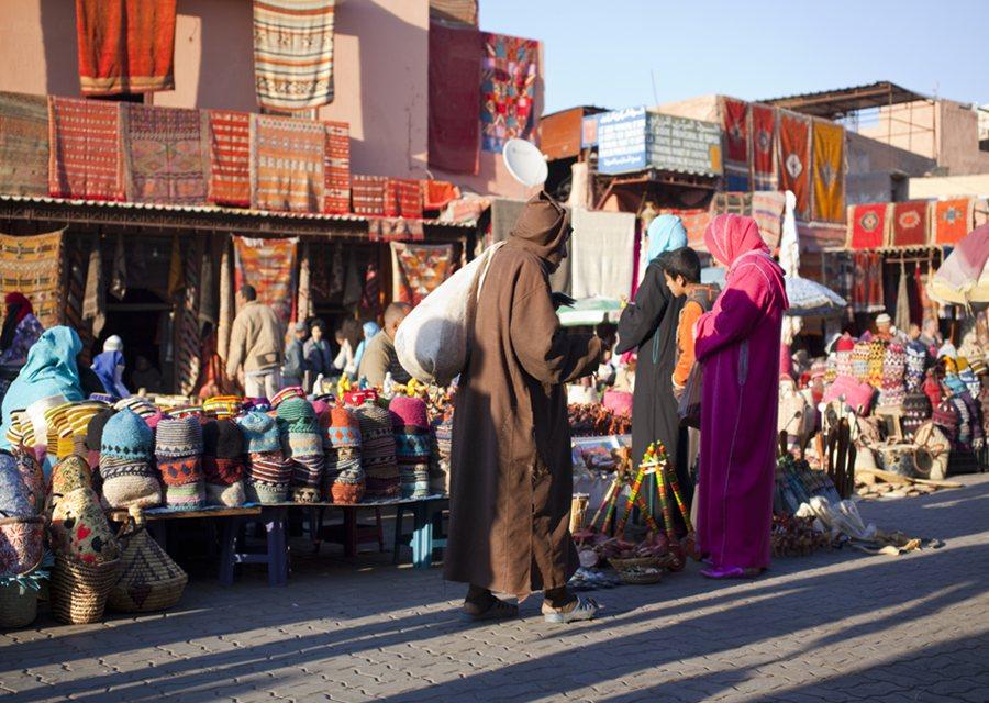 Morocco Souk Shopping