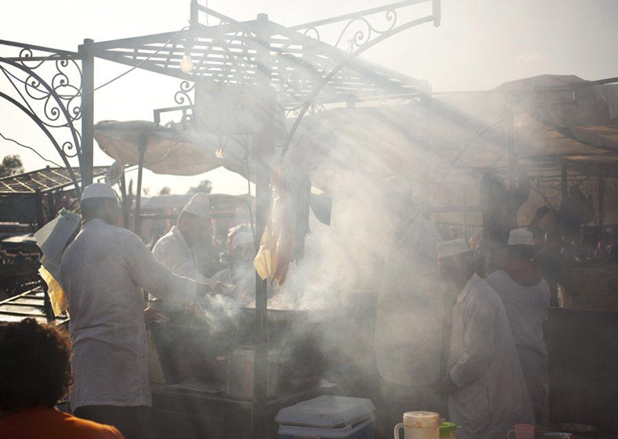 Food stalls at Jemaa El Fna