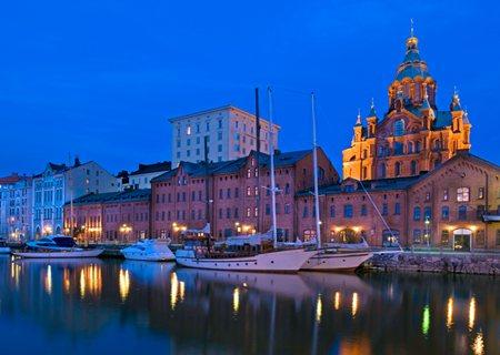Helsinki Waterfront At Dusk
